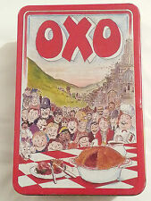 vintage oxo tin advertising retro 48 cubes old food tins sign bisto storage tins