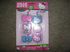 Sanrio Hello Kitty 6 Pack Stackable Pencil Top Erasers 54106 New!