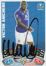EVERTON HAND SIGNED VICTOR ANICHEBE 11/12 MATCH ATTAX CARD.