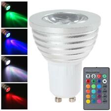 9W GU10 RGB LED Magic Light Bulb 16 Colors Changing + Wireless Remote AC85-265V
