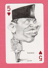 Sukarno Indonesia 1973 Political Playing Card from Spain