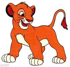 """6"""" DISNEY LION KING SIMBA FABRIC APPLIQUE IRON ON"""