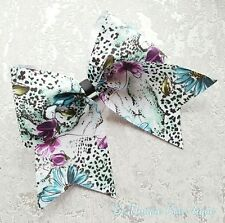 Large Snow Leopard Cheer Bow Cheerleading Dance Hair Bow
