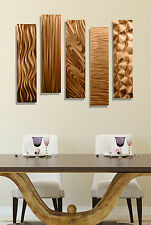 Beautiful Copper Wall Decor Accents, Wall Art, Sculpture - 5 Easy Pieces Copper