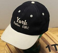 YARK PONTIAC/GMC TOLEDO OHIO HAT BLACK & BEIGE ADJUSTABLE VERY GOOD CONDITION
