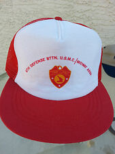 Vintage 6TH DEFENSE BTTN. U.S.M.C./MIDWAY ASSN FMF-Pac Cap/Hat Red/White