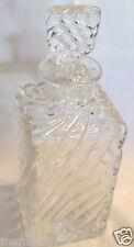 Ancien flacon de toilette en cristal Baccarat décor torse