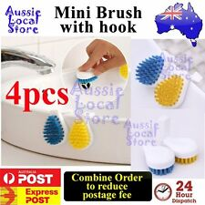 4 pcs Mini Sink Brush Washing Cleaning Kitchen Bath Basin Cleaner Tool with hook