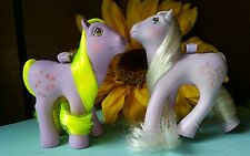 my little pony lot G1 flutter YUM YUM & FORGET ME NOT VINTAGE FREE SHIP