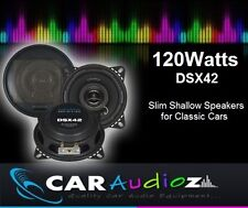 CRUNCH DSX42 120WATTS 4'' 10CM SLIM SHALLOW SPEAKERS FOR CLASSIC CARS