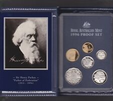 1996 ERROR SET Australia Proof Coin Set in Folder with 1995 5 cent coin