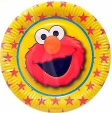 Elmo Sesame Street Paper Party Plates 6 pack 23cm