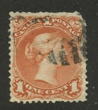 Canada 1868 Large Queen 1c brown red 'Burr to left of head' #22iii used