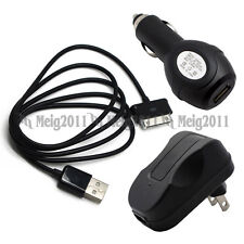 USB Cable+Car+Wall Charger for Samsung GALAXY Tab 2 7.0 7 GT-P3113 P3110 P3100