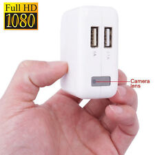 HD 1080P USB Wall Charger Hidden Spy Camera Mini DVR Recorder Motion Detection