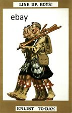 WW1 SCOTTISH SOLDIERS KILTIES ENLIST TODAY BRITISH ARMY POSTER NEW A4 PRINT
