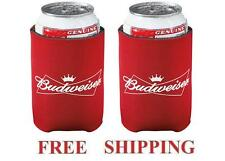 BUDWEISER 2 BUD BEER CAN WRAP COOLERS KOOZIE COOZIE COOLIE HUGIE NEW