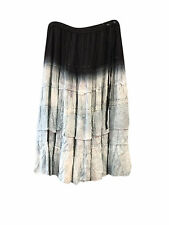 BOHO hippy gypsy WOMEN VINTAGE SKIRT TIE DYE ombre HIPPIE CHIC LONG SKIRTS