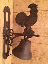 """Cast Iron Large Rooster Dinner Bell 11 3/4"""" tall Farmhouse Decor 0170S-02123"""