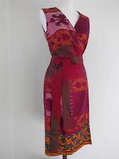 OSCAR DE LA RENTA DRESS GORG SILK SCREEN BEADED MULTI COLORS 6