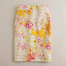 $98 J. Crew Pencil skirt in Sunshine Peony, size 6, worn once in excellent cond