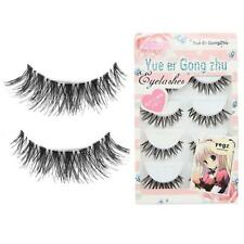 5 Paia/Lotto Moda False Eyelashes Spalline incrociate ciglia Voluminose CALDO