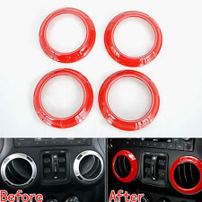 4x Paint Metallic Color Air AC Vent Outlet Trim Bezels Cover For Wrangler JK 15
