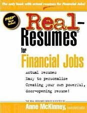Real Resumes for Financial Jobs by Anne McKinney (2012, Paperback)
