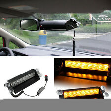 Amber 8 LEDs Vehicle Car Dash Strobe Light Flash Emergency Warning Safety Lamp