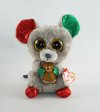 """6"""" TY Beanie Boos New Animal With Tag Halloween Mac Mouse Plush Stuffed Toys"""