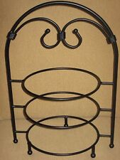 Southern Living At Home Three Tiered Plate Stand Red Mountain Iron #40010