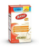 Boost PLUS Vanilla 8 oz. Nestle Nutrition Supplement, Fresh Product, Case of 27