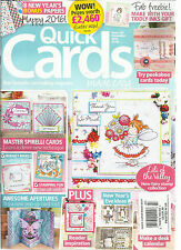 QUICK CARDS MADE EASY, DECEMBER, 2015   ( YOUR FAVORITE CARD MAKING MAGAZINE )