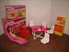 Barbie Dream Furniture Collection Patio Recliner & Serving Cart  Table Chairs +