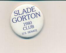 """1980 Slade Gorton for U.S. Senate 1 3/4"""" Washington WA campaign button"""