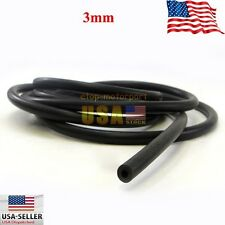 """10FT Length 1/8""""(3mm) Black Vacuum Silicone Hose Racing line Pipe Tube New"""