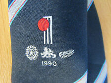 Official 1990 TCCB / Cornhill Insurance New ZEALAND / India CRICKET Tour Tie