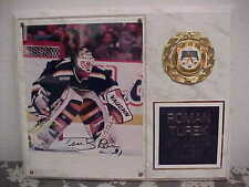 "ROMAN TUREK St Louis Blues Signed Photo Hanging Solid Wood Wall Plaque 15"" x 12"""