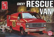 AMT 1/25 '75 Chevy Rescue Van (molded in RED) Fire Dept Rescue AMT851