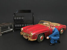 MECHANIC TONY INFLATING TIRE FIGURE FOR 1:24 SCALE BY AMERICAN DIORAMA 77496