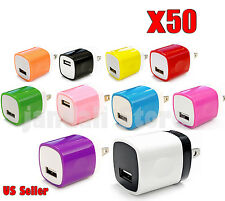 50x LOT Universal Fast 1A USB Charger Wall for iPhone Samsung HTC LG