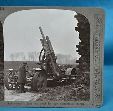 WW1 Stereoview Anti Aircraft Gun Captured By Our Troops Realistic Travels