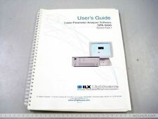 ILX SPA-9000 LASER PARAMETER ANALYZER SOFTWARE USERS GUIDE BOOK MANUAL REFERENCE