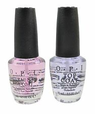OPI Natural Nail Polish Lacquer Base Coat & Top Coat COMBO FULL SIZE 0.5