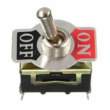 NUEVO Toggle Switch Interruptor 12V ON/OFF Coche Dash Light Metal 12 Volt DPST