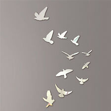 Acrylic Birds Mirror Effect Mural Wall Sticker Removable Artistic Home Decor