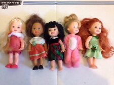 Barbie Kelly Dolls Lot 5 Clothes Christmas Red Hair African American Friends