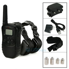 100LV Level Shock Rechargeable Waterproof LCD Vibra Remote 2 Dog Training Collar