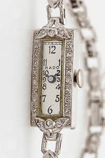 Antique 1940s $6000 RADO Signed 1ct VS G Diamond Platinum Ladies Watch WARRANTY
