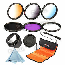 52mm UV CPL FLD Graduated Color Filter Kit Lens Hood For Nikon D3300 D5300 18-55